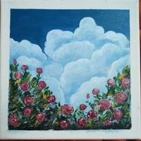 Used Rose painting in Dubai, UAE