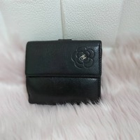 Used Authentic Chanel Compact Black Wallet in Dubai, UAE