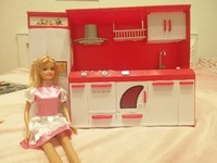 Used Kitchen set  with. 1 doll   with 2 dress in Dubai, UAE