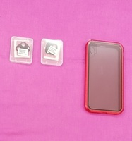 Used Anti - peep magnetic phone case red I ph in Dubai, UAE