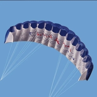 Used AeroGlide Giant parafoil Stunt kite Blue in Dubai, UAE