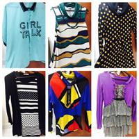 7 Branded Tops Preloved But New Condition