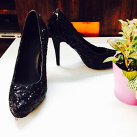 Used once black party heels