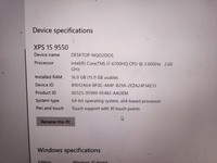 Used Dell XPS15 I7 9550 touchscreen laptop in Dubai, UAE