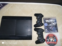 Used Play station 3 super slim with 2 games f in Dubai, UAE