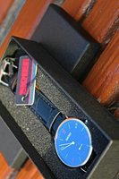 Used Both Dials Works▪Genuine Leather Watch in Dubai, UAE