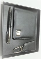 Used Quality Men wallet sit black leather in Dubai, UAE