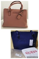 Used Guess 2 authentic Blue + peach bag in Dubai, UAE