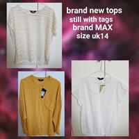 Used 3 Brand New MAX Tops With Tags Size Uk14 in Dubai, UAE