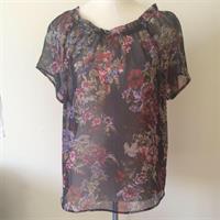 Esprit Sheer Blouse Size UK10. Very See Through