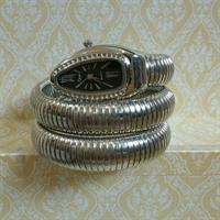 Cussi Double wrap around snake bangle watch