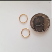 Used New Made in Italy 10k solid gold earring in Dubai, UAE