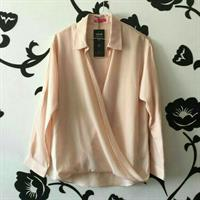 Blouse Chiffon New From Splash Peach Size Small To Medium