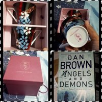 Used Dan Brown novel plus teacups in Dubai, UAE