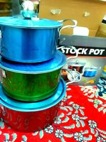 Used Cooking pot 6 pieces stainless steel new in Dubai, UAE