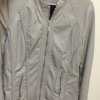 Used Leather Jacket in Beige  in Dubai, UAE