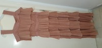 Used elegant peach color dress by iconic in Dubai, UAE
