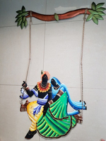 Big Radha Krishna Iron handicraft.