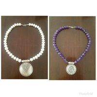 Used Buy 1 silver necklace get other free in Dubai, UAE