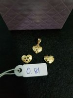 Used Heart earting and pendant real gold in Dubai, UAE