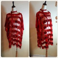 Used Red fabulous Top for Women free size. in Dubai, UAE