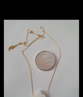 New 10k gold necklace with heart MOP