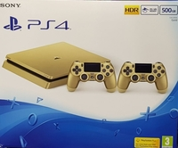 PS4 500GB GOLD DUAL CONTROLLERS with MEMBERSHIP