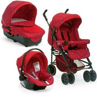 Used Hardly Used Chicco Trio Enjoy Fun Stroller 3 in 1 set Stroller, Bassinet and Car Seat in Dubai, UAE