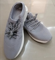 Breathable grey sneakers (one pair)