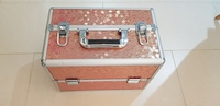 Used Makeup Box Organizer/ Case Pink in Dubai, UAE