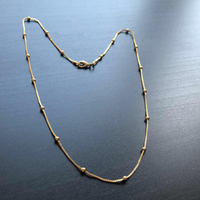 Necklace #gold #jewelry #goldbecklace