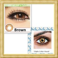 Used 2 pairs brown & hazel contact lenses in Dubai, UAE