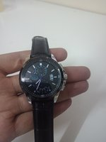 Used Gentlemen watch leather Black in a box in Dubai, UAE