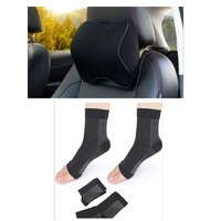 Used Neck pillow + compression ankle socks in Dubai, UAE