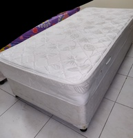 Used 2 single bed spring mattresses with base in Dubai, UAE
