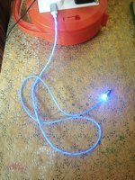 Used LED Magnetic flow Data cable iPhone in Dubai, UAE
