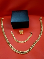 Men's Dragon Gold Jewelry Set 3pcs