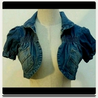 Used Denim crop Top.. in Dubai, UAE