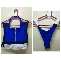 Used solid color swimsuit high collar zipper in Dubai, UAE