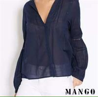 Brand New Navy Blue MANGO Top