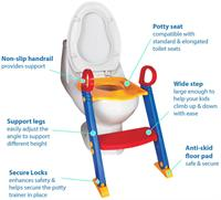 Used Brand new: Toddler Foldable Potty Training Toilet Ladder with built-in Seat in Dubai, UAE