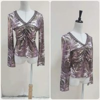 Used Brand new shiny purple Blouse small size in Dubai, UAE