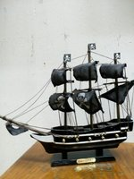 Black Pirate Ship for display - New