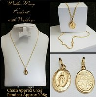 Mother Mary Nacklace 18k Italian Gold