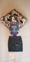 Used River Island bodysuit AND Leather Skirt in Dubai, UAE