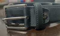 Used Men's Lacoste Black Buckle Leather Belt in Dubai, UAE