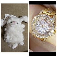 Used Buy  this fashion watch get cute teddy🎁 in Dubai, UAE