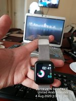 Used Smart watch WITH Magnetic METAL BAND♥️ in Dubai, UAE