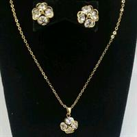 Used Ladies NECKLACE WITH GOLD Plated  in Dubai, UAE