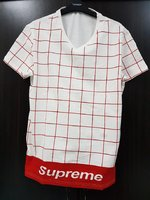 Used Supreme Shirt White and Red print 1pc in Dubai, UAE